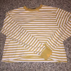 Brandy Melville Yellow Stripped Long Sleeve